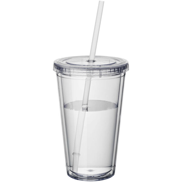 Cyclone 450 ml insulated tumbler with straw (10023400)