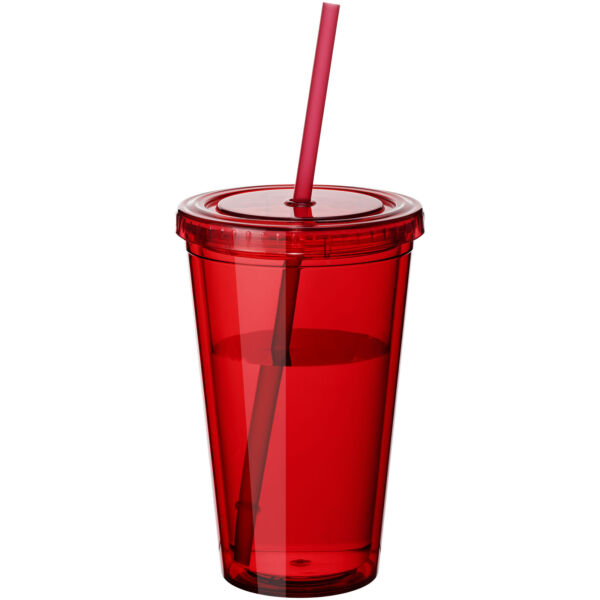 Cyclone 450 ml insulated tumbler with straw (10023401)