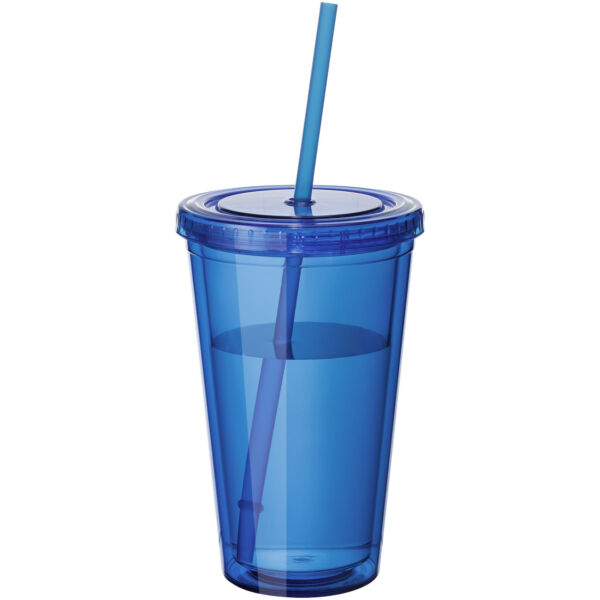 Cyclone 450 ml insulated tumbler with straw (10023402)