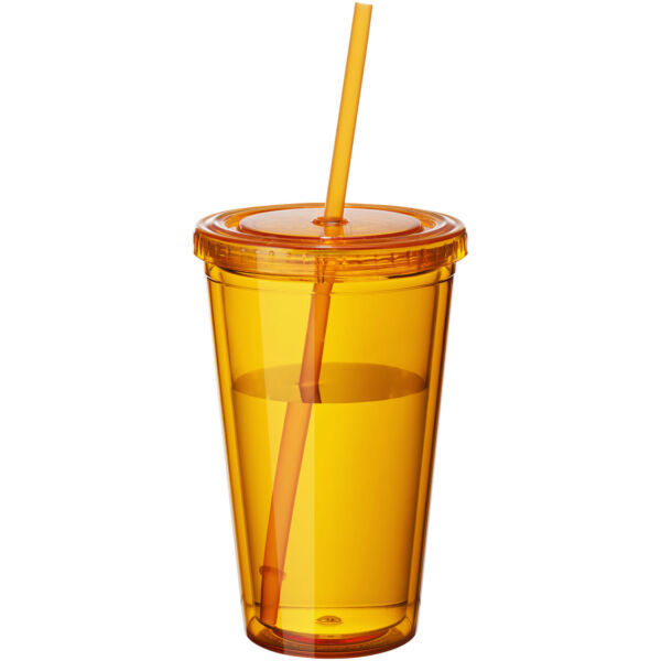 Cyclone 450 ml insulated tumbler with straw (10023404)