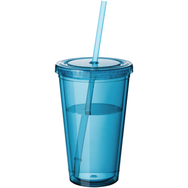 Cyclone 450 ml insulated tumbler with straw (10023405)