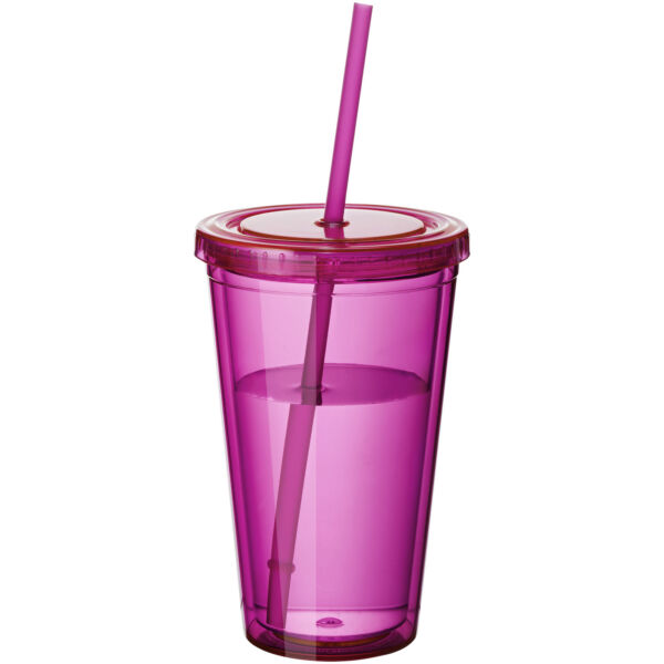 Cyclone 450 ml insulated tumbler with straw (10023406)