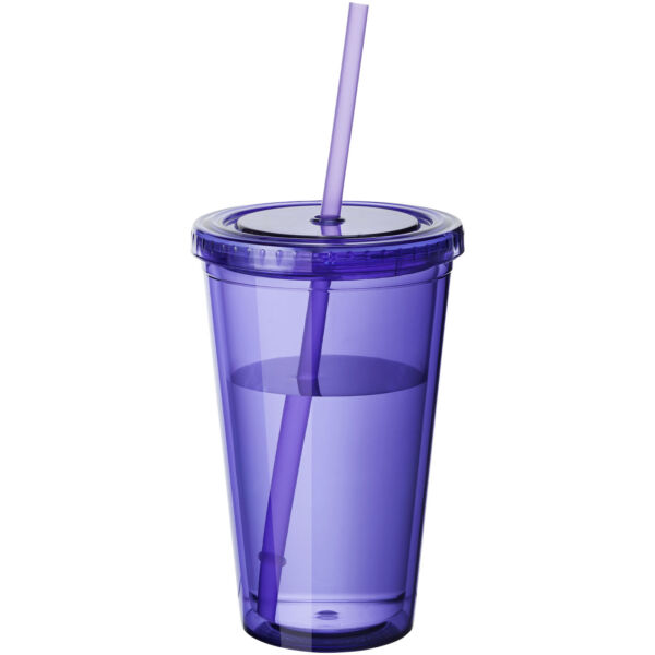 Cyclone 450 ml insulated tumbler with straw (10023407)