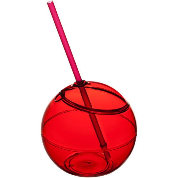 Fiesta 580 ml beverage ball with straw (10034001)