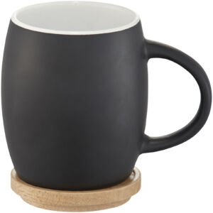 Hearth 400 ml ceramic mug with wooden lid/coaster (10046600)