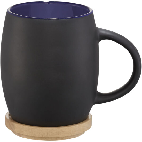 Hearth 400 ml ceramic mug with wooden lid/coaster (10046601)