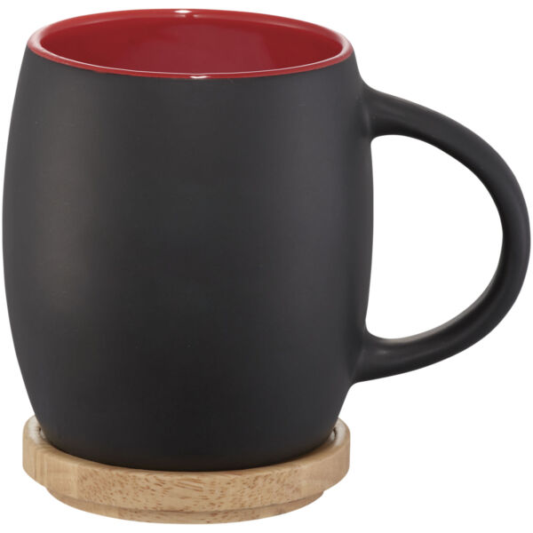 Hearth 400 ml ceramic mug with wooden lid/coaster (10046602)