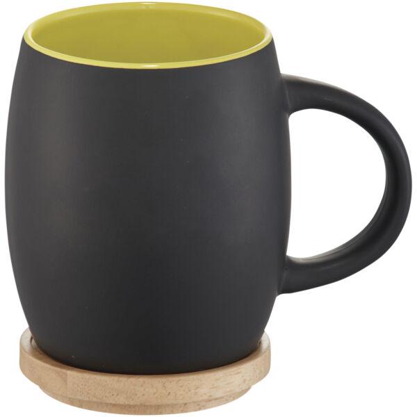 Hearth 400 ml ceramic mug with wooden lid/coaster (10046603)