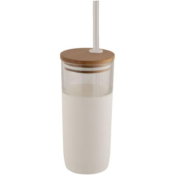 Arlo 600 ml glass tumbler with bamboo lid (10048600)