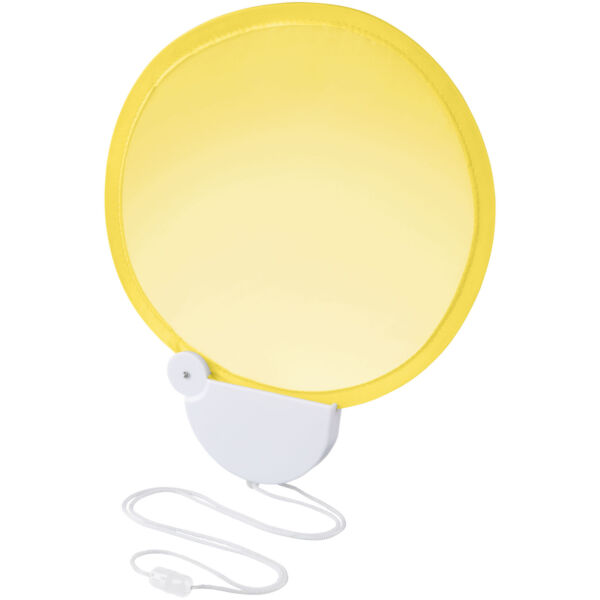 Breeze foldable hand fan with cord (10050406)