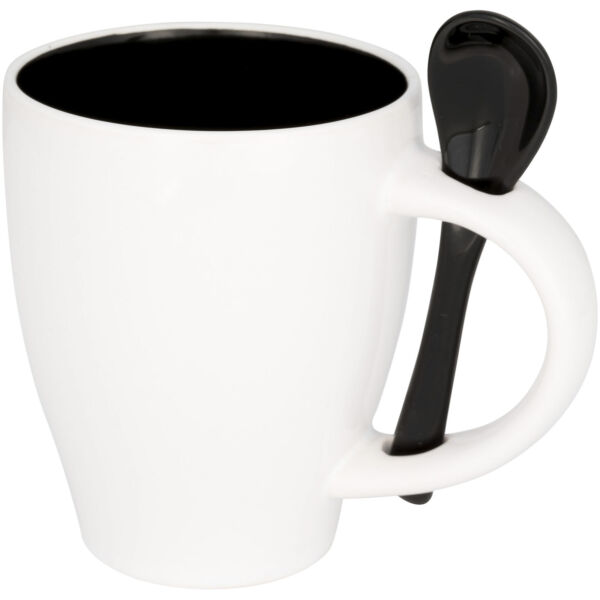 Nadu 250 ml ceramic mug with spoon (10052500)