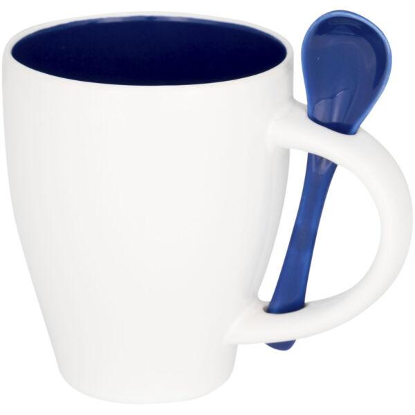 Nadu 250 ml ceramic mug with spoon (10052501)