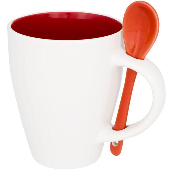 Nadu 250 ml ceramic mug with spoon (10052502)