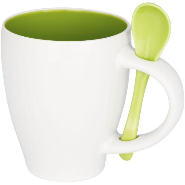 Nadu 250 ml ceramic mug with spoon (10052503)