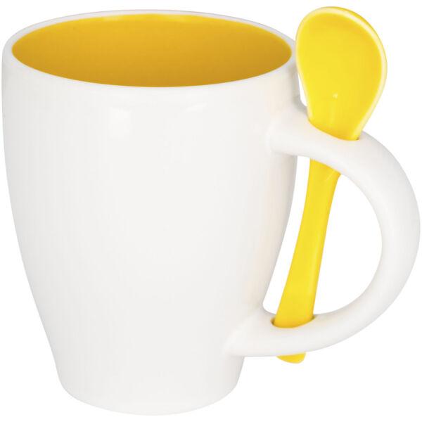 Nadu 250 ml ceramic mug with spoon (10052504)
