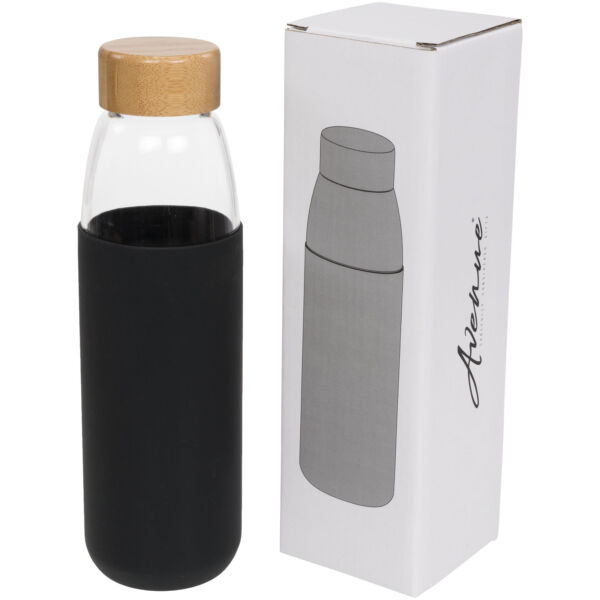 Kai 540 ml glass sport bottle with wood lid (10055000)