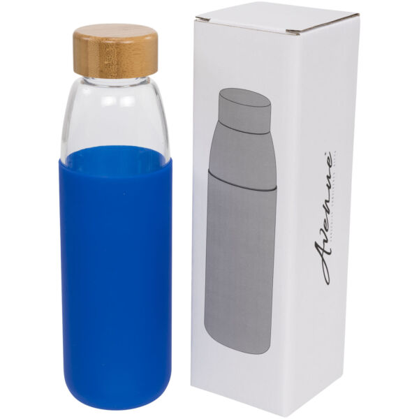 Kai 540 ml glass sport bottle with wood lid (10055002)