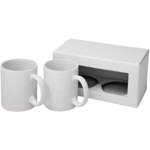 Ceramic mug 2-pieces gift set (10062500)