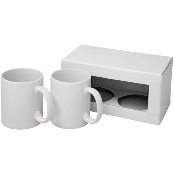 Ceramic sublimation mug 2-pieces gift set (10062600)