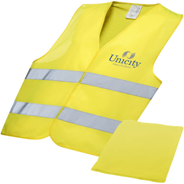 Watch-out XL safety vest in pouch for professional use (10401000)