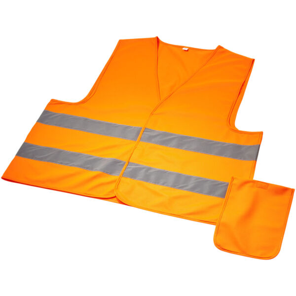 Watch-out XL safety vest in pouch for professional use (10401001)