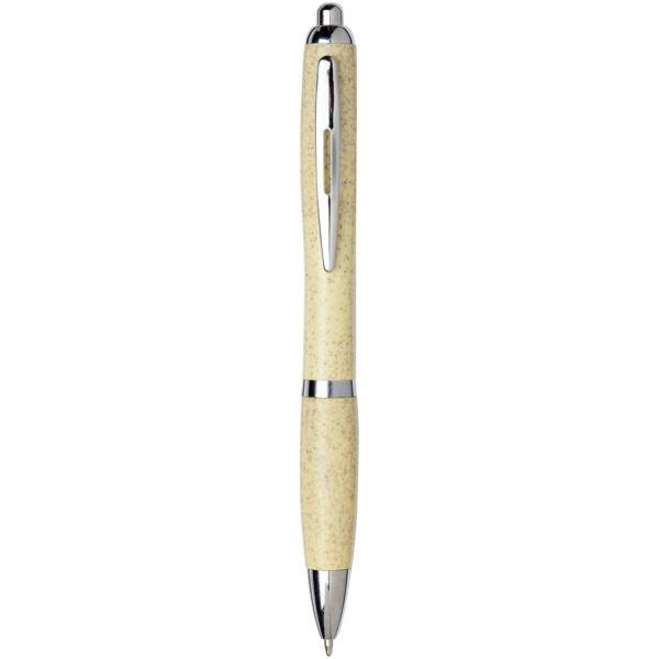 Nash wheat straw chrome tip ballpoint pen (10737905)