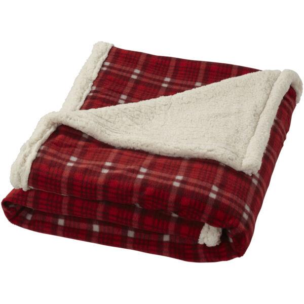 Joan sherpa plaid blanket (11284102)