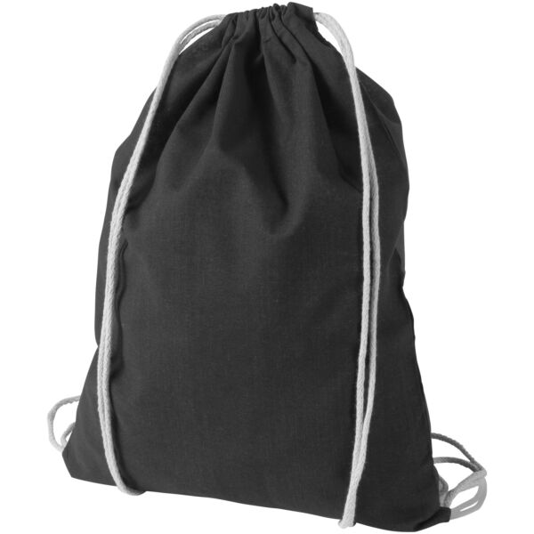 Oregon 100 g/m² cotton drawstring backpack (12011301)