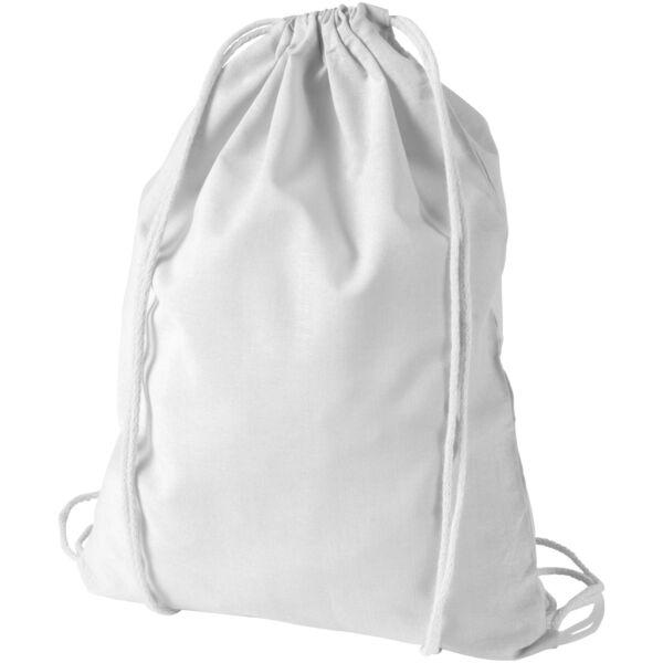 Oregon 100 g/m² cotton drawstring backpack (12011302)