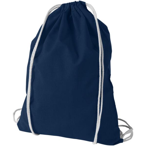 Oregon 100 g/m² cotton drawstring backpack (12011305)