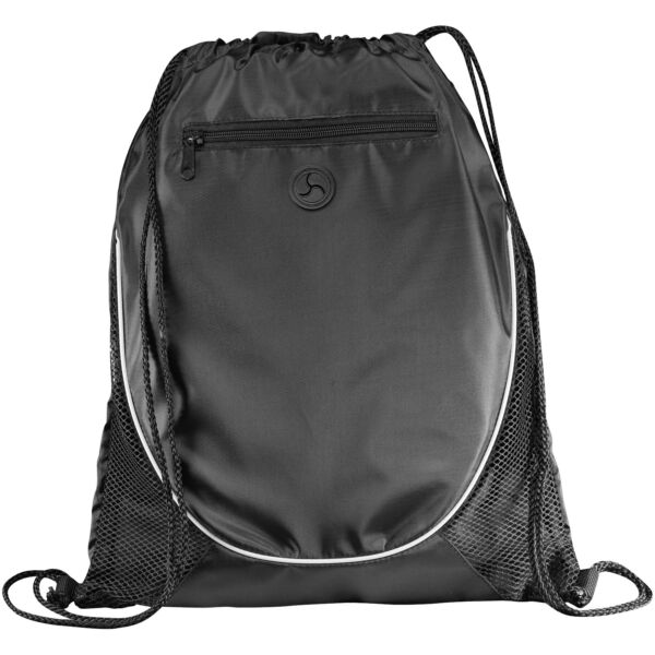 Peek zippered pocket drawstring backpack (12012000)