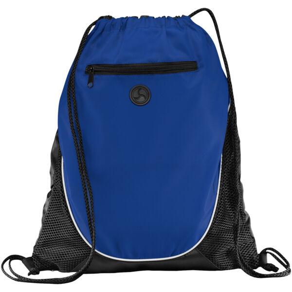 Peek zippered pocket drawstring backpack (12012001)