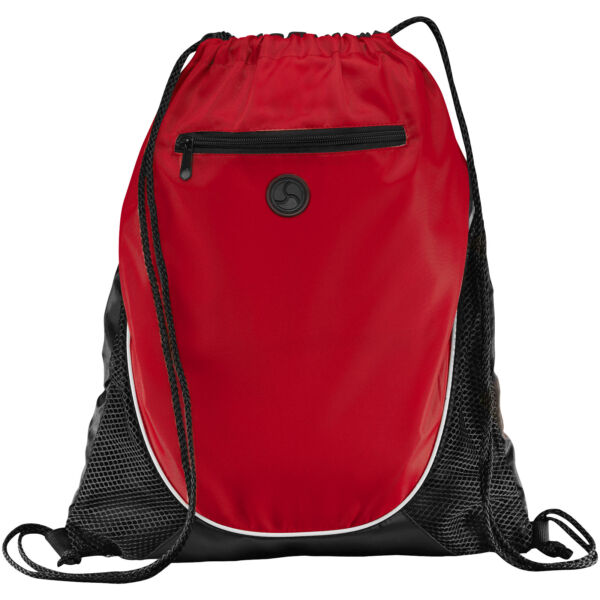 Peek zippered pocket drawstring backpack (12012002)