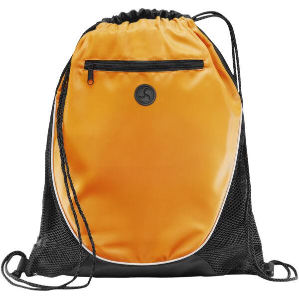 Peek zippered pocket drawstring backpack (12012003)