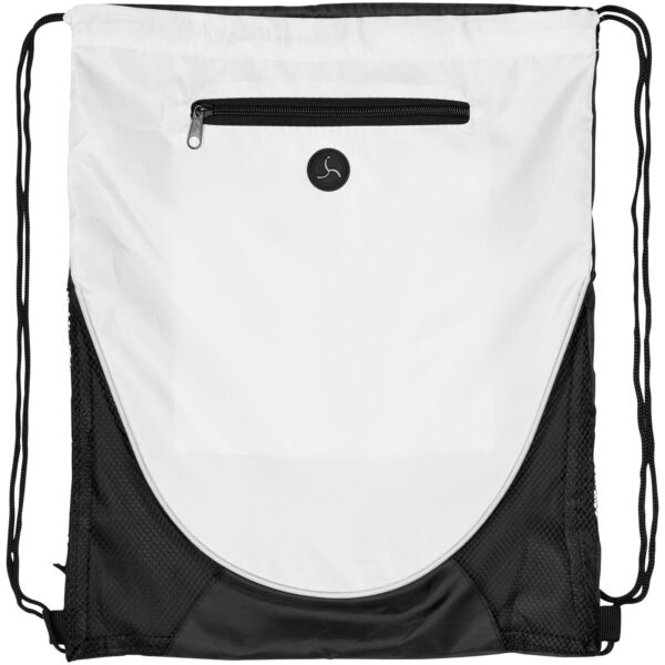 Peek zippered pocket drawstring backpack (12012005)