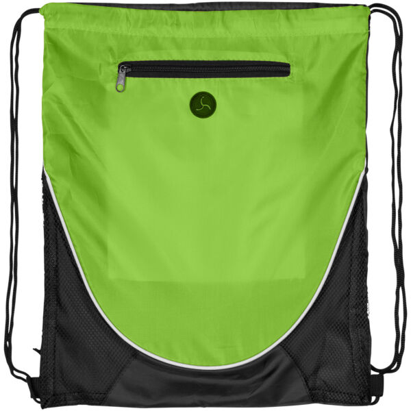 Peek zippered pocket drawstring backpack (12012006)