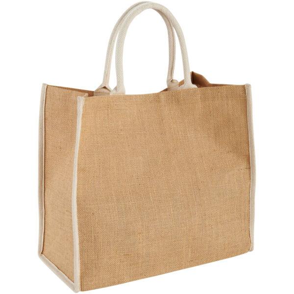 Harry coloured edge jute tote bag (12018200)