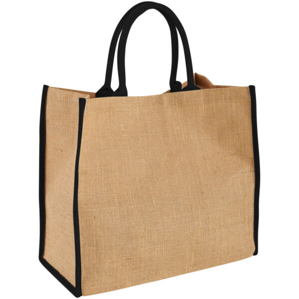 Harry coloured edge jute tote bag (12018201)