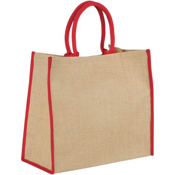 Harry coloured edge jute tote bag (12018203)