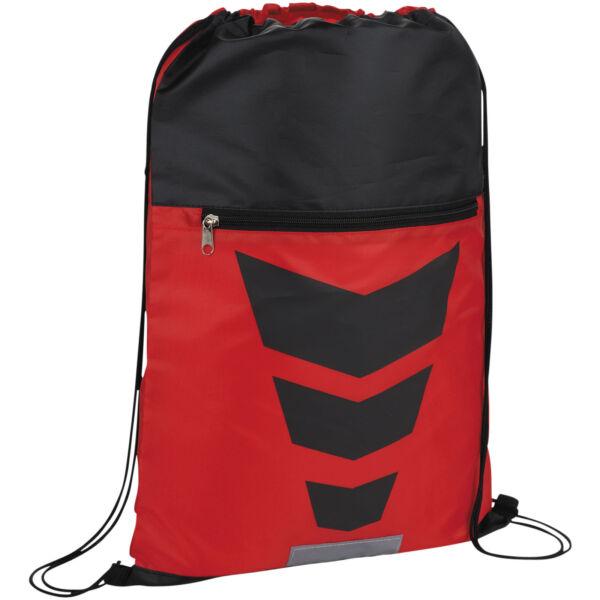 Courtside zippered pocket drawstring backpack (12024903)