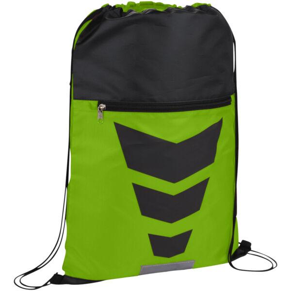 Courtside zippered pocket drawstring backpack (12024904)