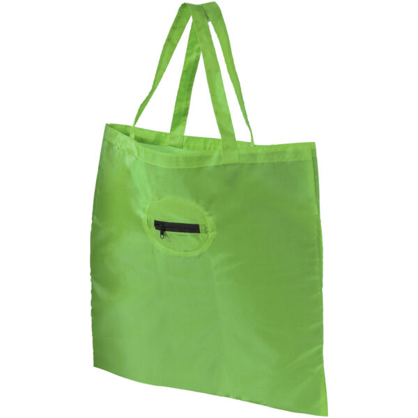Take-away foldable shopping tote bag with keychain (12027201)
