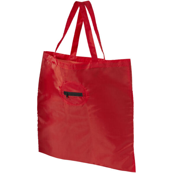 Take-away foldable shopping tote bag with keychain (12027202)