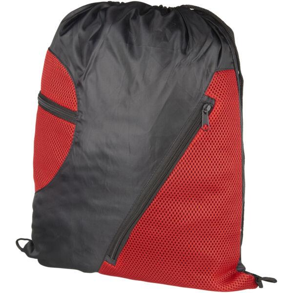 Kick zippered pockets drawstring backpack (12028701)