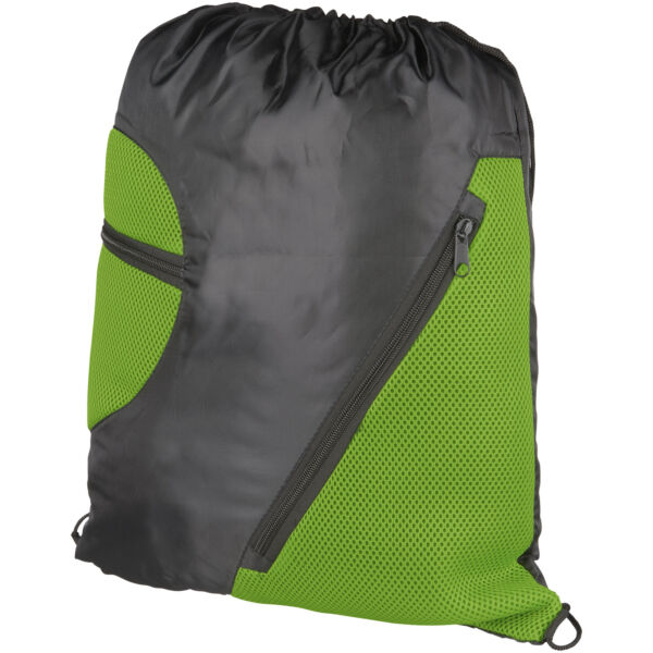 Kick zippered pockets drawstring backpack (12028702)