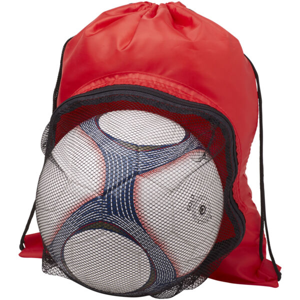 Goal drawstring backpack with football compartment (12030001)