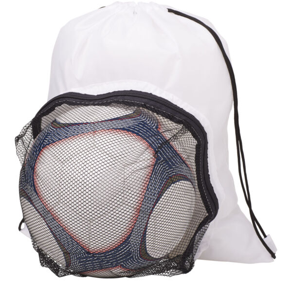 Goal drawstring backpack with football compartment (12030002)