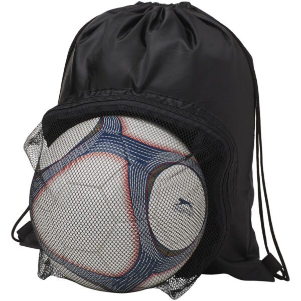 Goal drawstring backpack with football compartment (12030003)