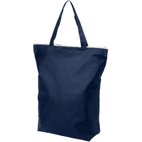 Privy zippered short handle non-woven tote bag (12040500)