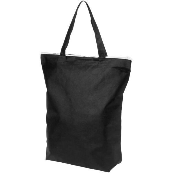 Privy zippered short handle non-woven tote bag (12040501)